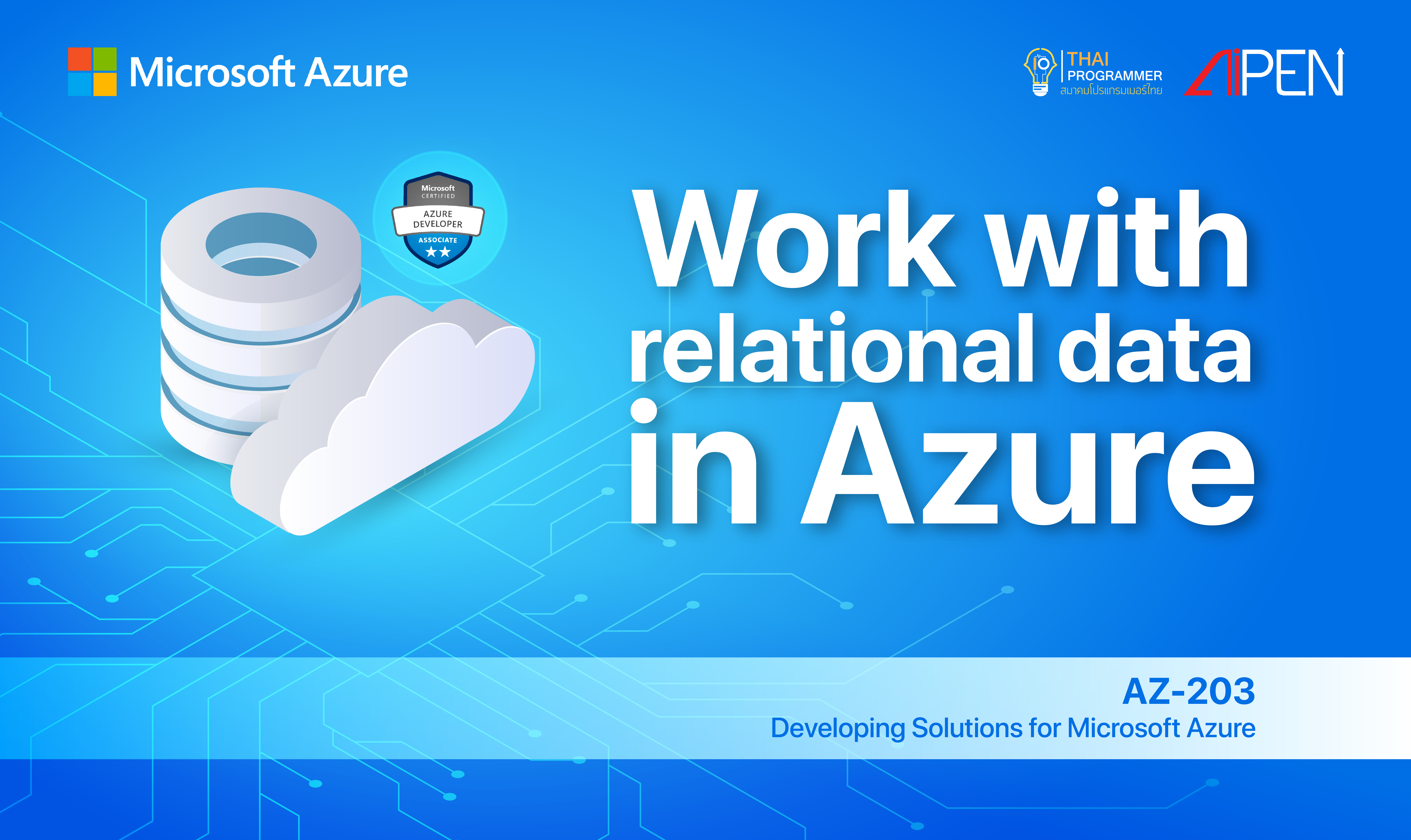 Microsoft Azure: Work with relational data in Azure AZ-LEARN-1