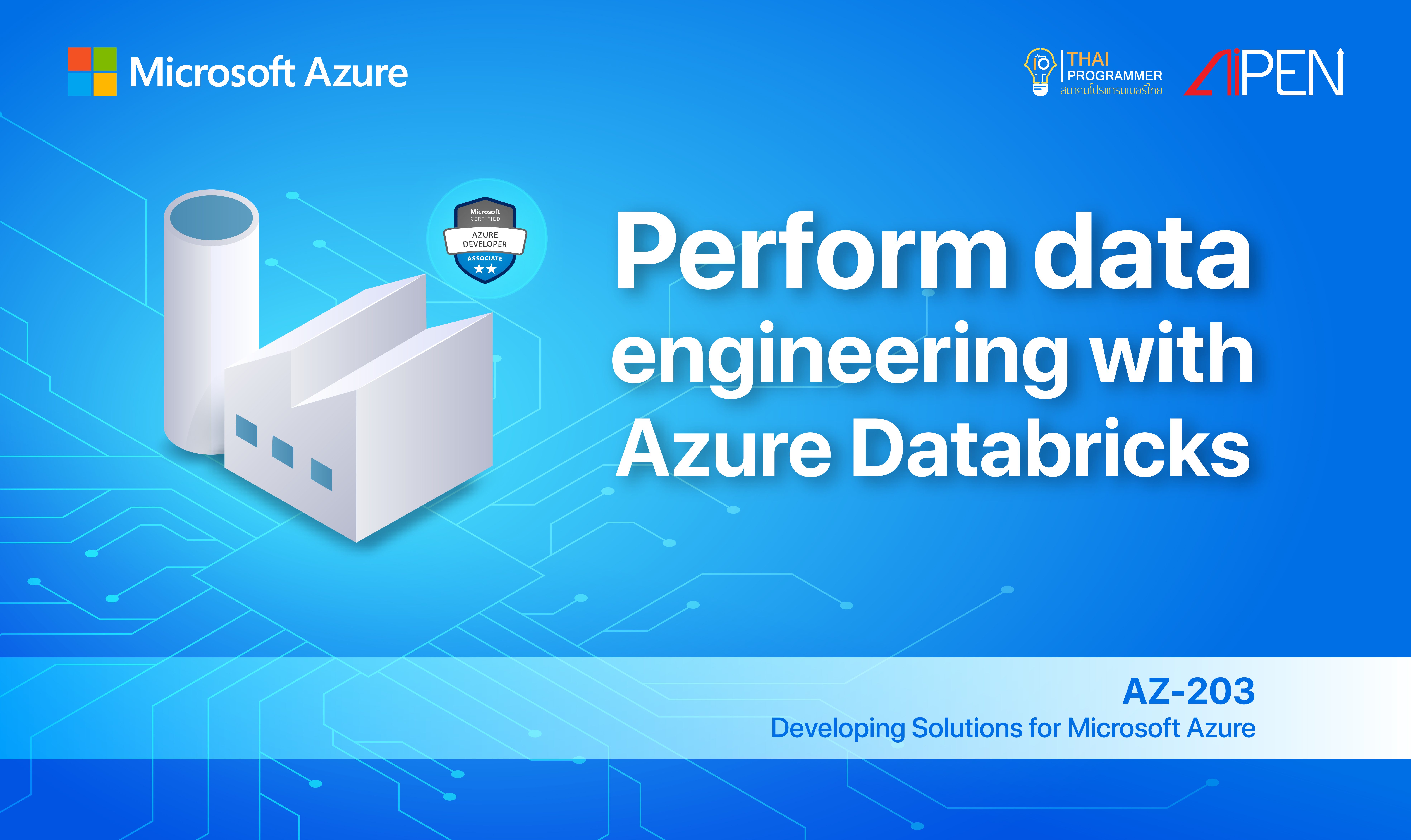 Microsoft Azure: Perform data engineering with Azure Databricks AZ-LEARN-11
