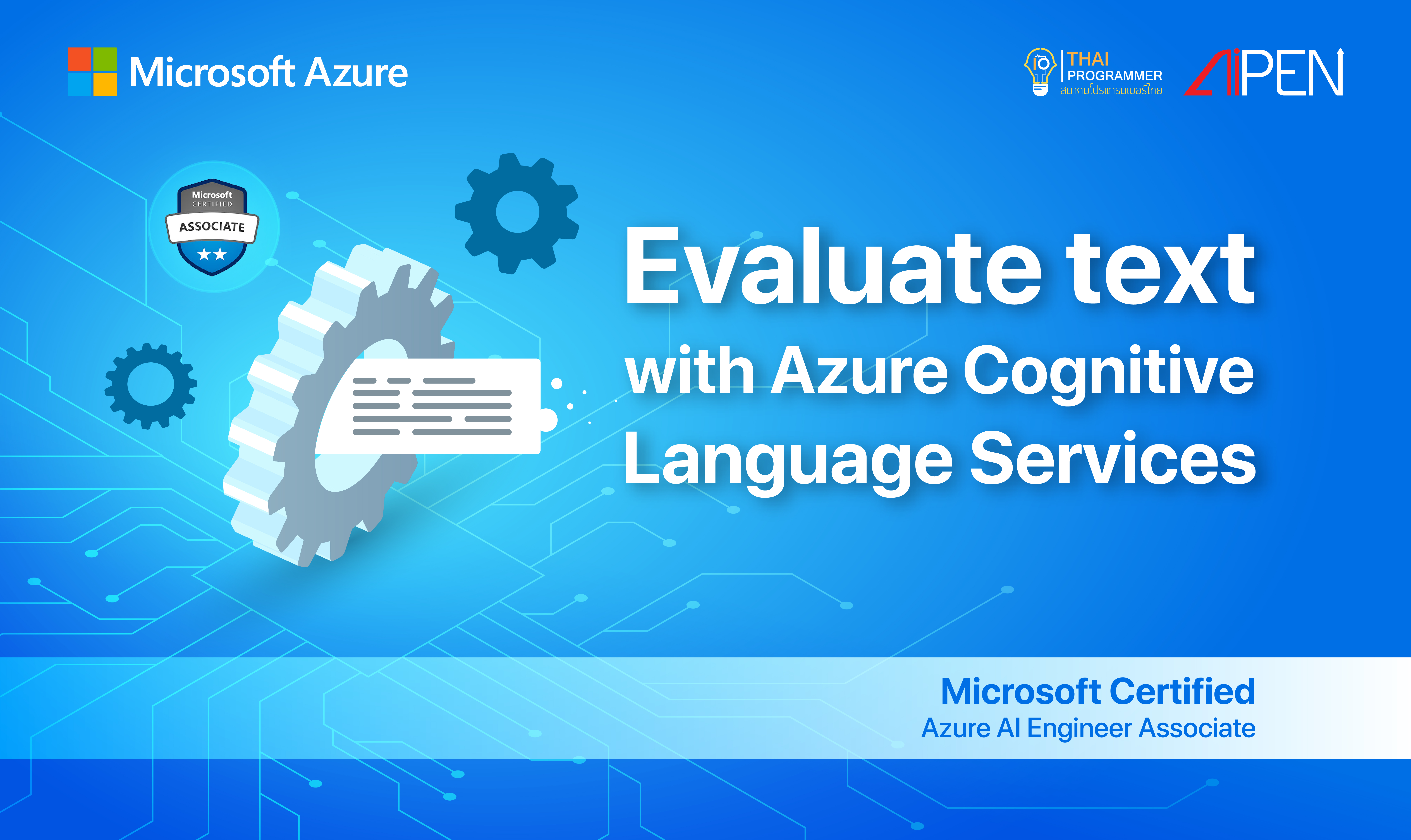 Microsoft Azure : Evaluate text with Azure Cognitive Language Services AZ-LEARN-16