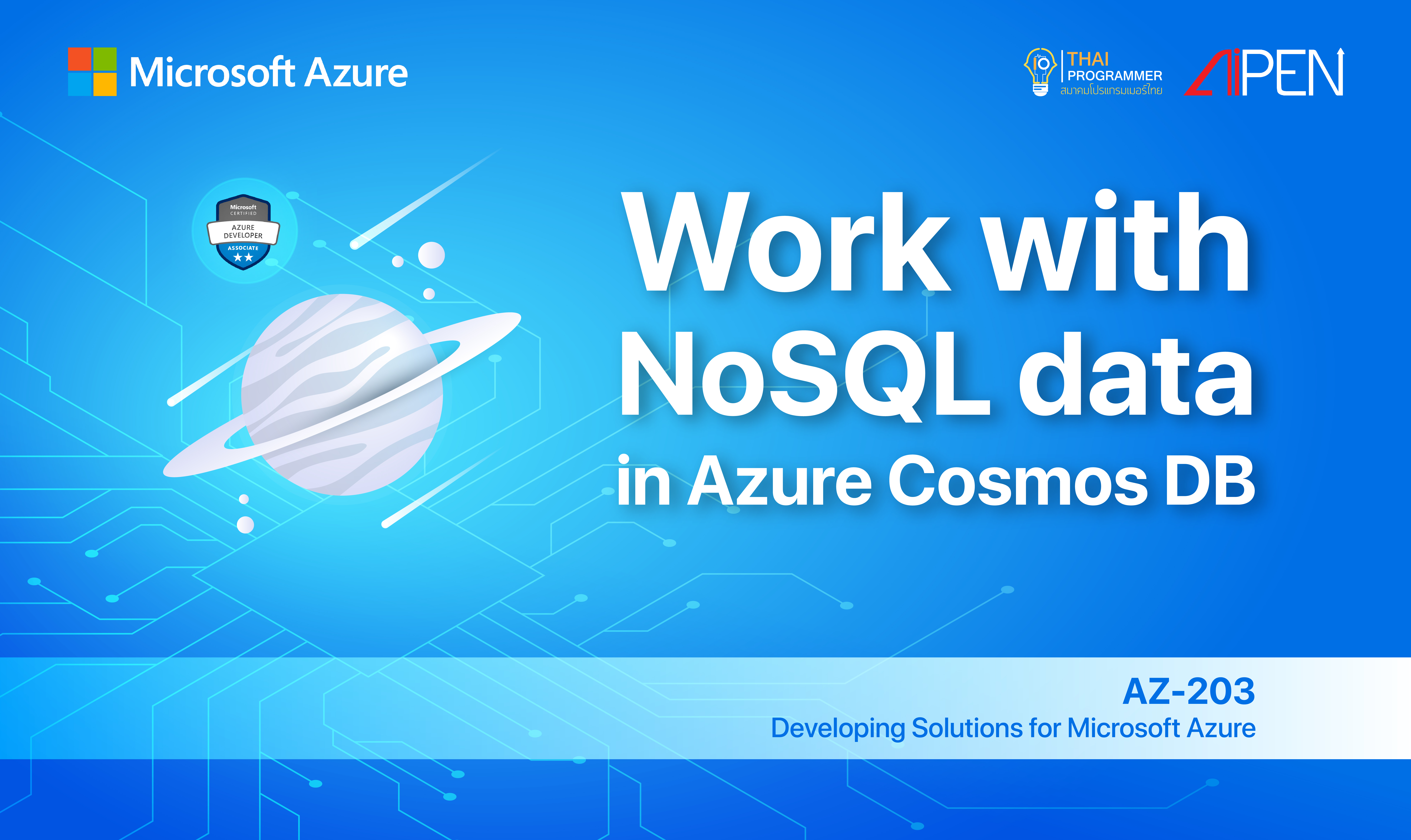Microsoft Azure: Work with NoSQL data in Azure Cosmos DB AZ-LEARN-9