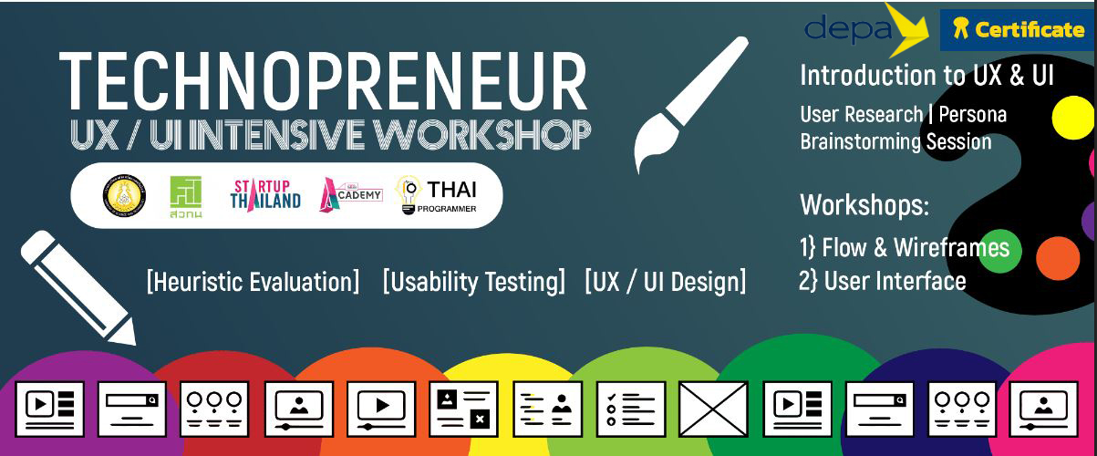 Technopreneur UX/UI Intensive Workshop UXUI1